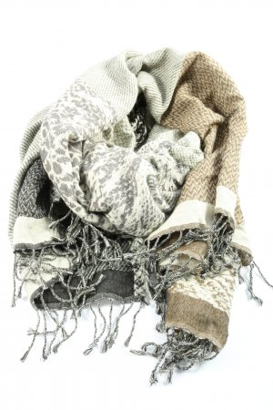 Codello Fringed Scarf brown-light grey casual look