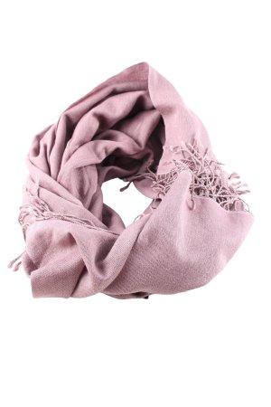Codello Bufanda de flecos rosa look casual