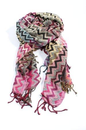 Codello Sciarpa con frange multicolore stile casual