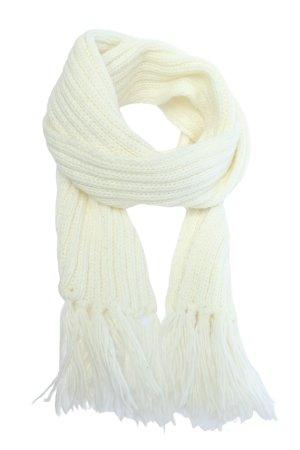 Codello Écharpe à franges blanc style décontracté