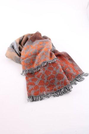 Codello Bufanda de flecos naranja claro-gris claro look casual