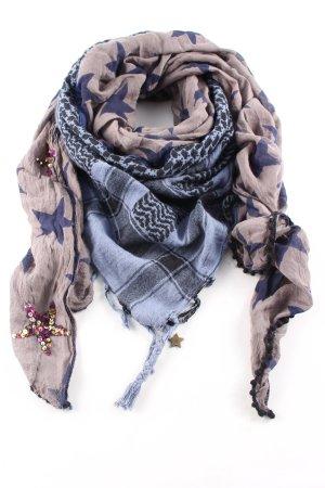 Codello Sjaal met franjes grafisch patroon casual uitstraling