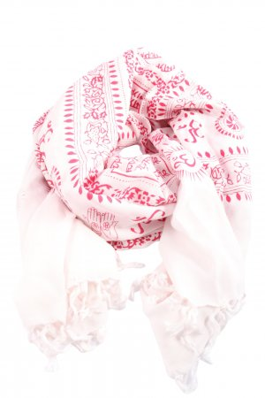 Codello Fringed Scarf pink graphic pattern casual look