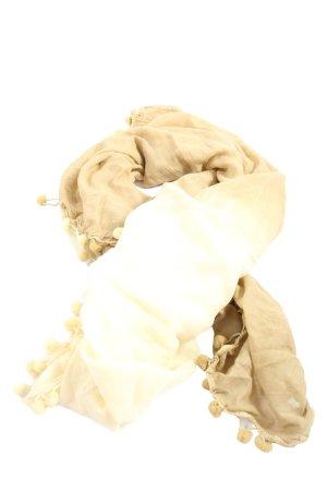 Codello Écharpe à franges blanc cassé style décontracté