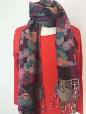 Codello Sjaal met franjes veelkleurig Viscose