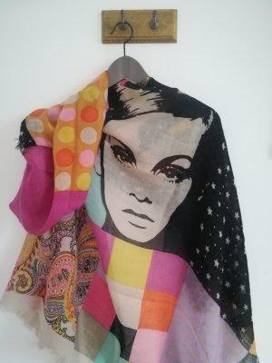 Codello Bufanda de lana multicolor