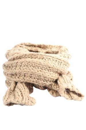 Codello Szydełkowany szalik nude Warkoczowy wzór W stylu casual