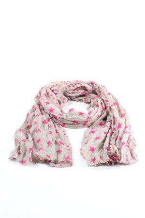 Codello Halsdoek lichtgrijs-roze volledige print casual uitstraling