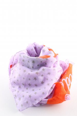 Codello Foulard violet-orange clair imprimé allover style décontracté