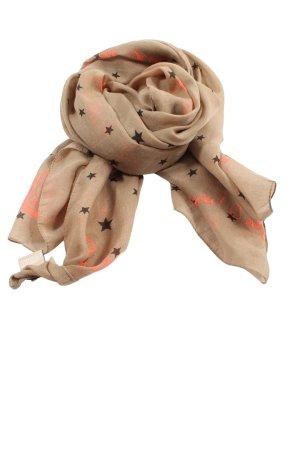 Codello Halsdoek bruin-licht Oranje volledige print casual uitstraling
