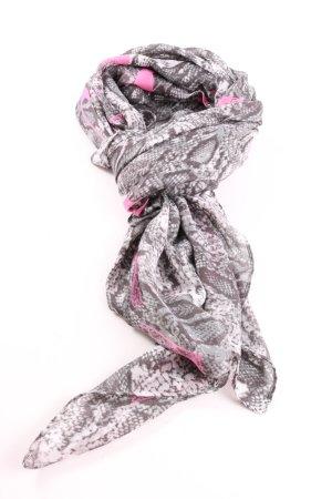 Codello Halstuch hellgrau-pink Animalmuster extravaganter Stil