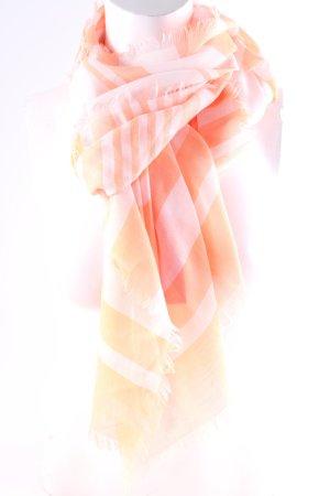 Codello Foulard blanc-orange fluo motif rayé style décontracté