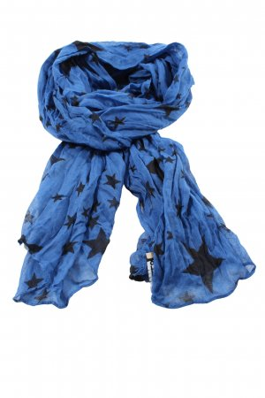 Codello Bufanda arrugada azul-negro estampado repetido sobre toda la superficie
