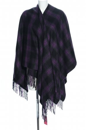 Codello Poncho estampado a cuadros look casual