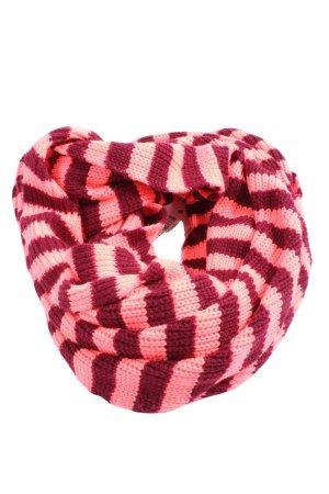 Codello Écharpe ronde rouge-rose motif rayé style décontracté