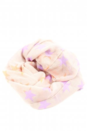 Codello Rundschal pink-lila Allover-Druck Casual-Look