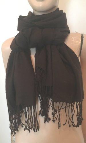 Codello Sjaal van kasjmier zwart bruin Kasjmier