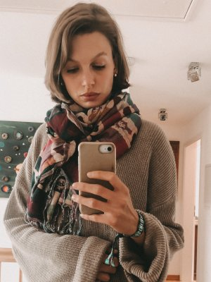 Codello Wollen sjaal veelkleurig Wol