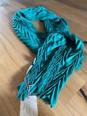 Codello Wełniany szalik zielony