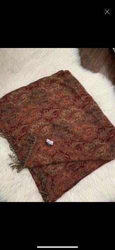 Codello Sciarpa di lana arancione scuro-nero Lana