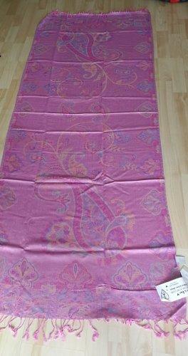 Codello Bufanda de flecos rosa