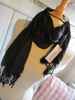 Codello Sjaal met franjes zwart Viscose