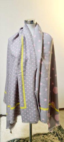 Codello Écharpe en laine jaune fluo-rose