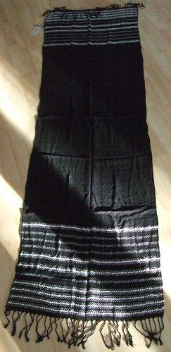 Codello Bufanda de flecos color plata-negro Acrílico
