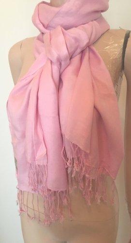 Codello Sjaal met franjes lichtroze Viscose