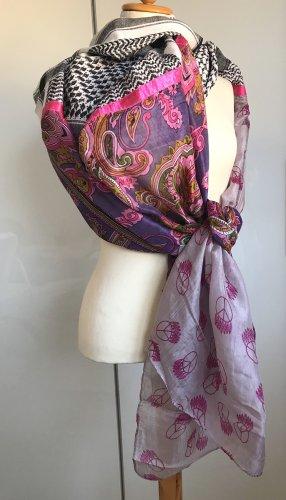 Codello Bufanda de seda multicolor