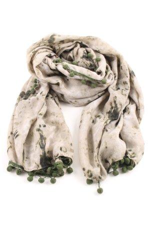 Codello Schlauchschal creme-grün abstraktes Muster Casual-Look