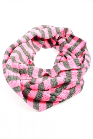 Codello Tube Scarf pink-light grey striped pattern casual look