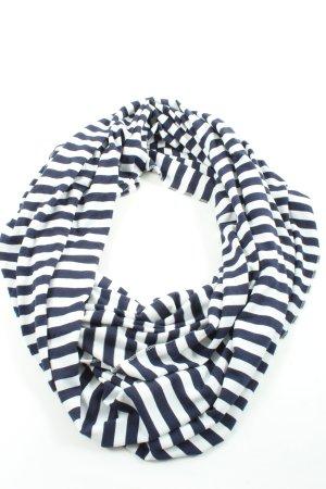 Codello Bufanda tubo azul-blanco estampado a rayas look casual