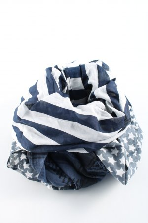 Codello Shoulder Scarf blue-white themed print casual look