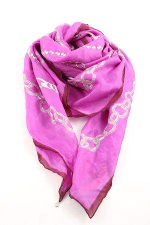 Codello Sciarpa di seta rosa-giallo pallido Stampa a tema elegante