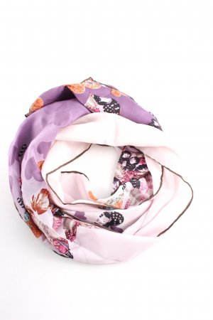 Codello Silk Scarf natural white-lilac abstract pattern casual look