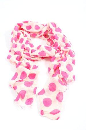Codello Chal veraniego crema-rosa estampado a lunares look casual