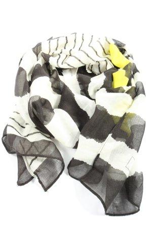 Codello Écharpe d'été blanc-gris clair motif rayé style décontracté