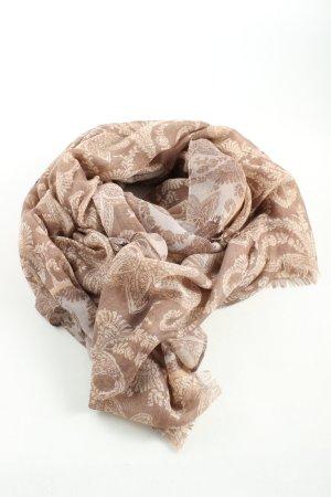 Codello Chal veraniego marrón-crema estampado con diseño abstracto look casual