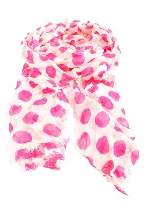 Codello Écharpe d'été crème-rose imprimé allover style décontracté