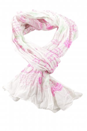Codello Chal veraniego rosa-blanco estampado con diseño abstracto look casual
