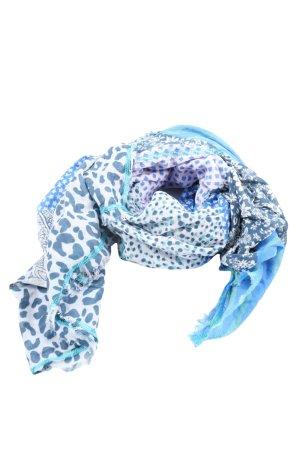 Codello Écharpe d'été bleu motif de fleur style décontracté