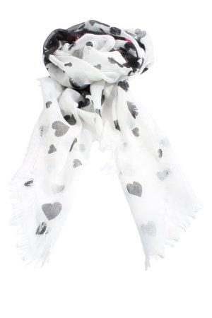 Codello Écharpe d'été blanc-noir imprimé allover style décontracté