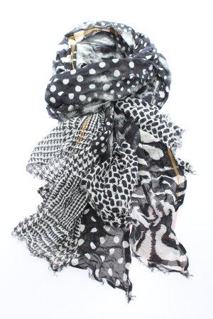 Codello Écharpe d'été noir-blanc imprimé allover style décontracté