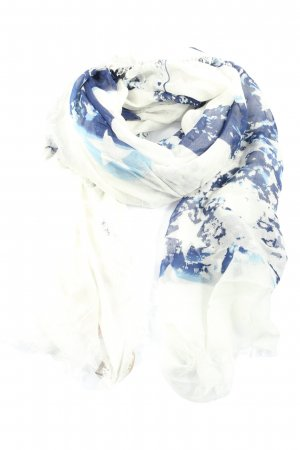 Codello Chal veraniego blanco-azul estampado temático look casual