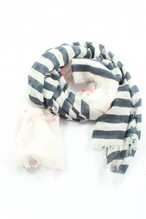 Codello Summer Scarf natural white-blue graphic pattern casual look