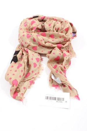 Codello Chal veraniego nude-rosa estampado repetido sobre toda la superficie