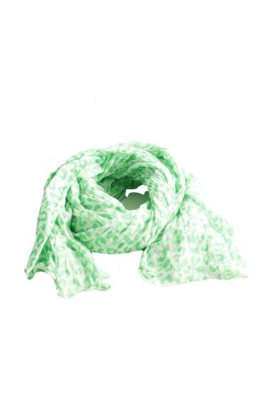 Codello Chal veraniego verde estampado repetido sobre toda la superficie