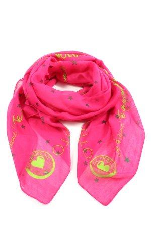 Codello Schultertuch pink-blassgelb Motivdruck Casual-Look