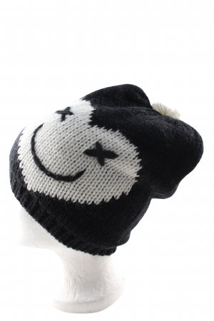 Codello Knitted Hat black-white themed print casual look